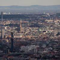 Blick vom Kahlenberg auf die Innenstadt von Wien
