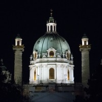Karlskirche at night, Vienna