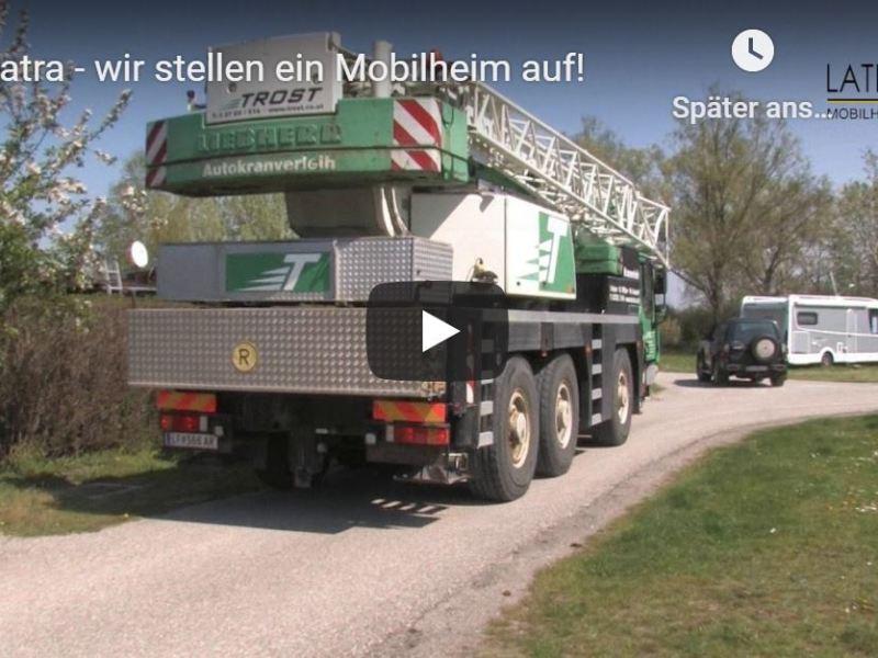 Camping,Adria Mobilheim ADRIA Mline 745 F21,Lieferung,Aufstellung,Kran,Sondertransport